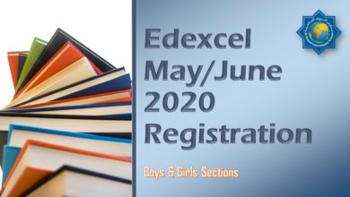 Photo of Edexcel May/June 2020 Registration