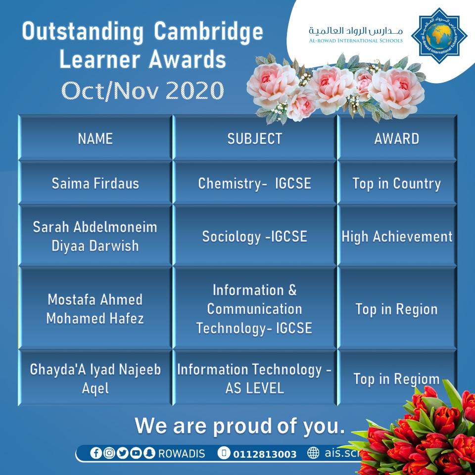 Outstanding Cambridge Learner Awards